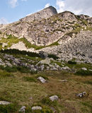 Peaks above Dolina Zielona Gasienicowa in Tatry mountains Royalty Free Stock Photo