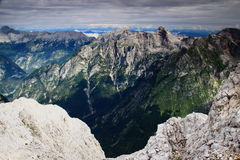 Peaks above Trenta and Zadnjica valleys, Julian Alps, Slovenia Stock Photo