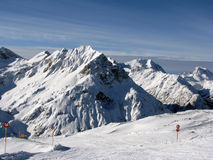 Peaks in Alps. Skiing at St Anton, Austria Stock Photos