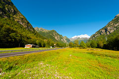 Peaks of the Alps Stock Photography