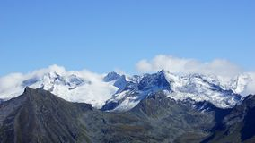 Peaks of the Alps in Europe Royalty Free Stock Images
