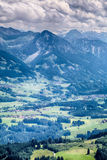 Peaks in the Alps by Summer Royalty Free Stock Image