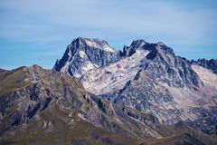Peaks Balaitous 3144 m and Frondellas 3063 m from west Royalty Free Stock Photo