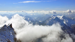 Peaks of Bavarian Alps Royalty Free Stock Images
