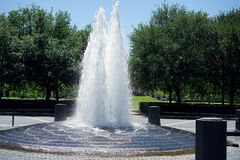 Peaks of bubbling water. This towering fountain helps cool the humidity on the campus of Rice University, Houston, Texas Royalty Free Stock Photography