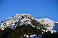 Peaks of Bucegi Mountains seen from Padina Plateau. Royalty Free Stock Photo
