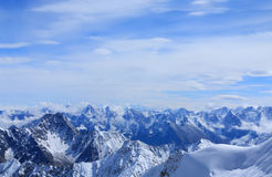 Peaks of the Caucasus Stock Photography