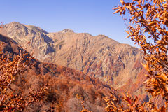Peaks of Caucasus mountains in Krasnodar Stock Photo