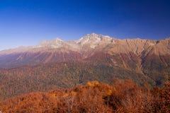 Peaks of Caucasus mountains in Krasnodar Stock Photos