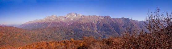 Peaks of Caucasus mountains in Krasnodar Royalty Free Stock Photo