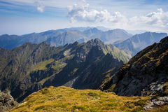 Peaks, cliffs and valleys. Stock Image