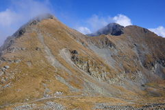 Peaks and clouds. Trip in Fagaras Mountains, in september Stock Photography
