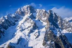 Peaks in Courmayeur Stock Photo
