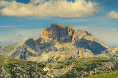 Peaks of the Croda Rossa,Dolomite Alps,Italy Royalty Free Stock Photo