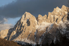 Peaks of the Dolomites in northern Italy Stock Photos