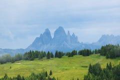 Peaks of Dolomiti mountains Royalty Free Stock Image