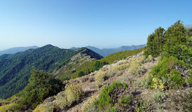 Peaks of eastern Mountain of corsica island Stock Photos