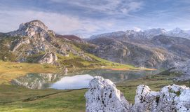 Peaks of Europe, Lakes of Covadonga. Royalty Free Stock Images