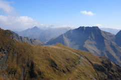 Peaks on Fagaras Mountains. Trip in Fagaras Mountains, in september Royalty Free Stock Images