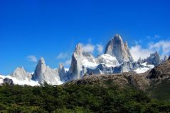 Peaks of fitz roy Stock Photo