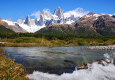 Peaks of fitz roy royalty free stock photo