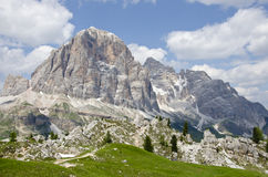Peaks of five towers. (Dolomites, north Italy Stock Photography