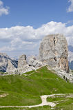 Peaks of five towers. (Dolomites, north Italy Stock Images