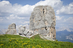 Peaks of five towers. (Dolomites, north Italy Royalty Free Stock Images