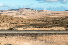 Peaks on Fuerteventura. Mountains in the Canary Islands. Peaks on Fuerteventura Stock Photo