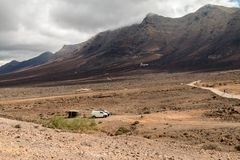 Peaks on Fuerteventura. Mountains in the Canary Islands. Peaks on Fuerteventura Stock Photos