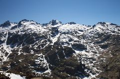 Peaks at gredos mountain Stock Photography