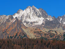 Peaks of High Tatras in autumn Royalty Free Stock Image