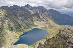 Peaks of High Tatras and lake Hincovo pleso, Slovakia Royalty Free Stock Image