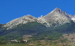 Peaks of The High Tatras in summer stock image