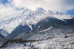 Peaks in the Himalaya, Nepal. Stock Photo