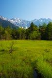 The Peaks of the Hotakas from TASHIRO Wetland Stock Image