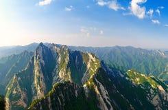 Peaks_huashan_xian magnifique Image libre de droits