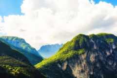 Peaks in Italian Alps Royalty Free Stock Photos