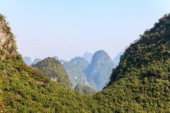 Peaks of limestone rocks on a sunny day Stock Image