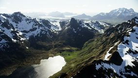The peaks of Lofoten in the arctic. North stock video footage