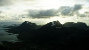 The peaks of Lofoten in the arctic. North stock video