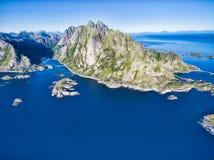 Peaks on Lofoten Royalty Free Stock Image