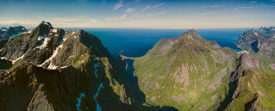 Peaks on Lofoten Royalty Free Stock Photo