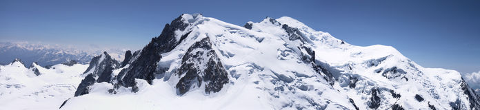 Peaks of Mont-Blanc massive Stock Photos