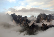 Peaks of a mountain Royalty Free Stock Photography