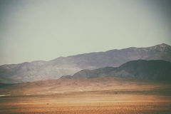 Peaks and mountain ranges in the desert Stock Photography