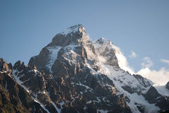 Peaks of mountain Ushba Stock Photography