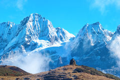Peaks of mountains, covered by snow. Stock Images