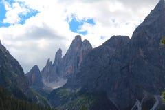 Mountain landscape of the Dolomites, Italy stock image
