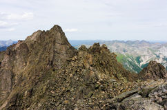 Peaks of the mountains in summer Stock Photography